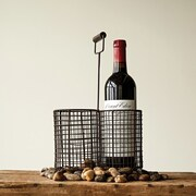Creative Co-Op Secret Garden 2 Bottle Tabletop Wine Rack