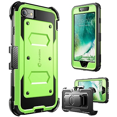 i-Blason Apple iPhone 7 Armorbox Series Fullbody Protection Case with Screen and Holster - Green (752454312597)