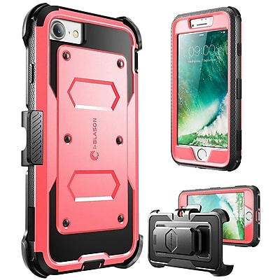 i-Blason Apple iPhone 7 Armorbox Series Fullbody Protection Case with Screen and Holster - Pink (752454312603)