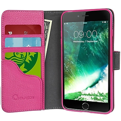 i-Blason Apple iPhone 7 Synthetic Leather Wallet Case - Pink (752454312801)