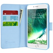 i-Blason Apple iPhone 7 Synthetic Leather Wallet Case - Dalmatian Blue (752454312825)