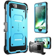i-Blason Apple iPhone 7 Plus Armorbox Series Fullbody Protection Case with Screen and Holster - Blue (752454313068)
