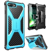 i-Blason Apple iPhone 7 Plus Transformer Series Kickstand Case with Holster - Blue (752454313129)