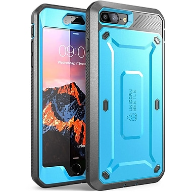 SUPCASE Apple iPhone 7 Plus Unicorn Beetle Pro Series Fullbody Protective Case with Screen & Holster, Blue/Black (752454313419)