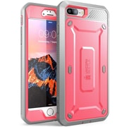 SUPCASE Apple iPhone 7 Plus Unicorn Beetle Pro Series Protective Case with Screen & Holster, Pink/Gray (752454313433)