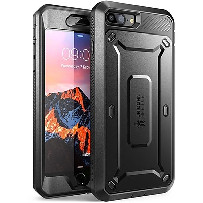 SUPCASE Apple iPhone 7 Plus Unicorn Beetle Pro Series Protective Case & Screen and Holster, Black/Black (752454313402)
