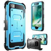 i-Blason Apple iPhone 7 Armorbox Series Fullbody Protection Case with Screen and Holster - Blue (752454312580)
