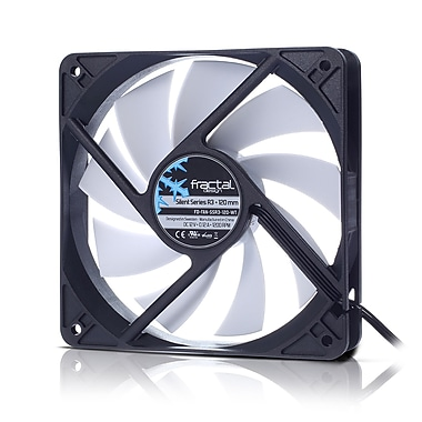 Fractal Design – Ventilateur de boîtier Silent Series R3, 120 mm (FD-FAN-SSR3-120-WT)