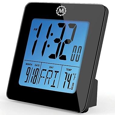 Marathon - Horloges numériques de table Cl030050bk, 3,75 x 3,75 x 1,5 po
