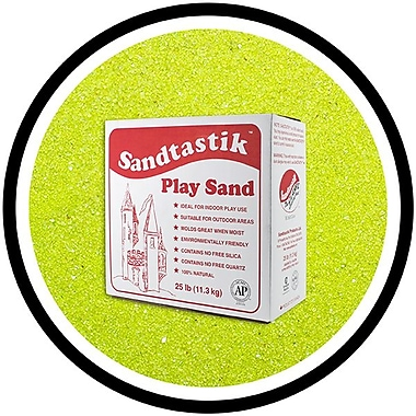 Sandtastik® Classic Coloured Sand, 25 lb (11.3 kg) Box, Lime Yellow