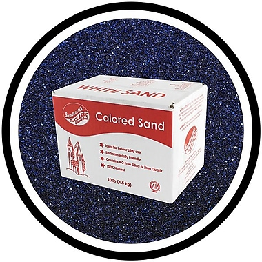 Sandtastik® Classic Coloured Sand, 10 lb (4.5 kg) Box, Navy Blue, 3/Pack