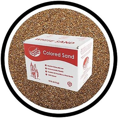 Sandtastik Classic Coloured Sand, 10 lb (4.5 kg) Box, Brown, 3/Pack