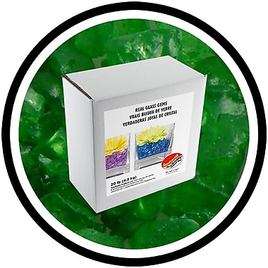 Sandtastik® Coloured ICE Gems, 20 lb, Green
