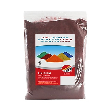 Sandtastik® Classic Coloured Sand, 5 lb (2.3 kg) Bag, Cranberry