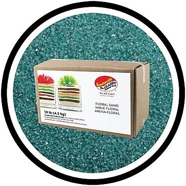 Sandtastik® Floral Coloured Sand, 10 lb (4.5 kg) Box, Teal