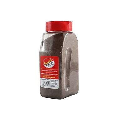 Sandtastik Classic Coloured Sand, 28 oz (795 g) Bottle, Brown, 8/Pack