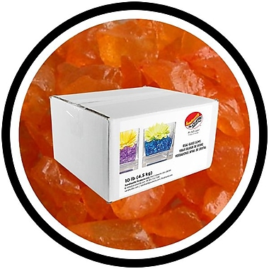 Sandtastik® Coloured ICE Gems, 10 lb, Orange