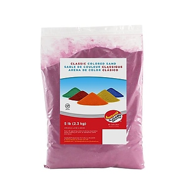 Sandtastik® Classic Coloured Sand, 5 lb (2.3 kg) Bag, Magenta, 6/Pack