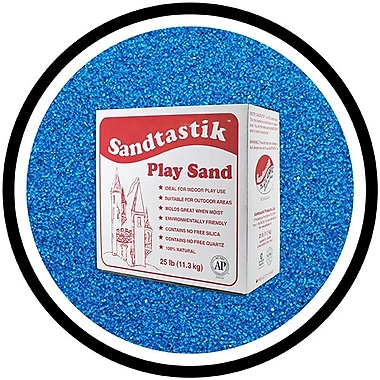 Sandtastik® Classic Coloured Sand, 25 lb (11.3 kg) Box, Blue