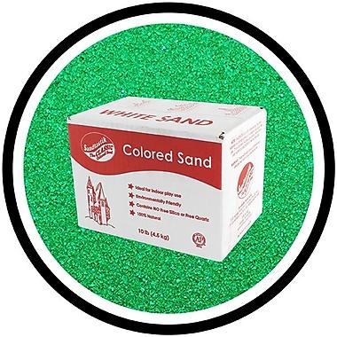 Sandtastik® Classic Coloured Sand, 10 lb (4.5 kg) Box, Emerald Green