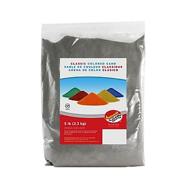 Sandtastik® Classic Coloured Sand, 5 lb (2.3 kg) Bag, Grey