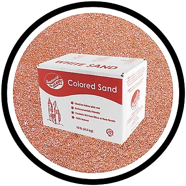 Sandtastik® Classic Coloured Sand, 10 lb (4.5 kg) Box, Brick