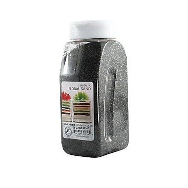 Sandtastik® Floral Coloured Sand, 28 oz (795 g) Bottle, Graphite, 8/Pack
