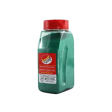 Sandtastik® Classic Coloured Sand, 28 oz (795 g) Bottle, Emerald Green