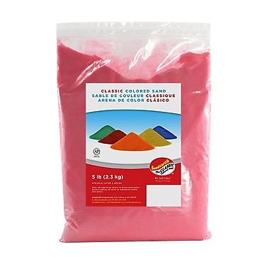 SandtastikMD – Sable classique coloré, sac de 5 lb (2,3 kg), rose bonbon, 6/paquet