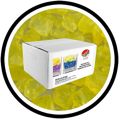Sandtastik® Coloured ICE Gems, 10 lb, Yellow
