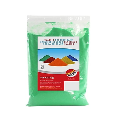 Sandtastik® Classic Coloured Sand, 5 lb (2.3 kg) Bag, Fluorescent Green