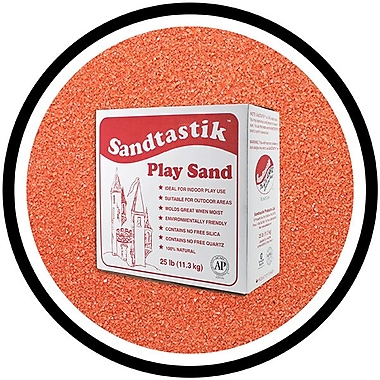 Sandtastik® Classic Coloured Sand, 25 lb (11.3 kg) Box, Coral