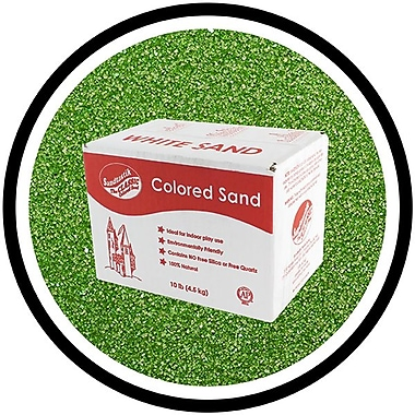 Sandtastik® Classic Coloured Sand, 10 lb (4.5 kg) Box, Evergreen