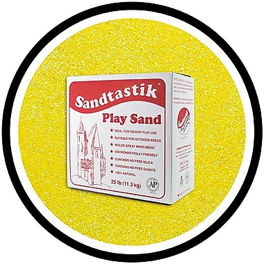 Sandtastik® Classic Coloured Sand, 25 lb (11.3 kg) Box, Yellow