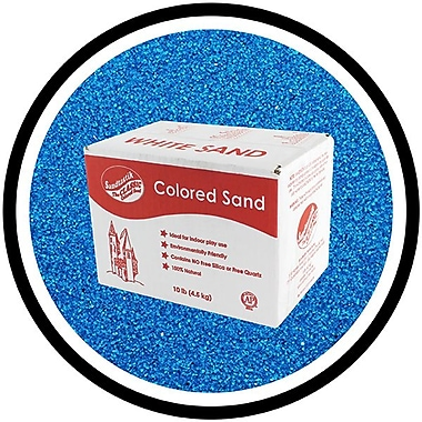 Sandtastik® Classic Coloured Sand, 10 lb (4.5 kg) Box, Blue