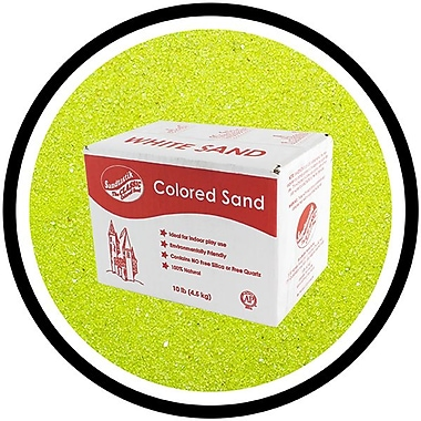Sandtastik® Classic Coloured Sand, 10 lb (4.5 kg) Box, Lime Yellow
