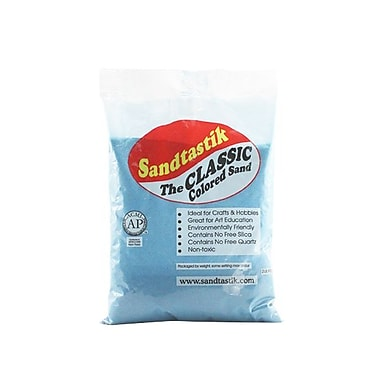 Sandtastik® Classic Coloured Sand, 2 lb (909 g) Bag, Light Blue