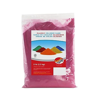 Sandtastik® Classic Coloured Sand, 5 lb (2.3 kg) Bag, Mauve, 6/Pack