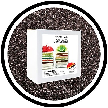 Sandtastik® Floral Coloured Sand, 25 lb (11.3 kg) Box, Graphite