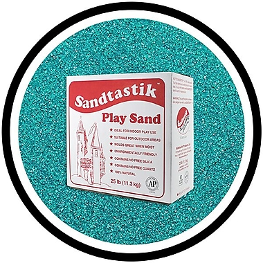 Sandtastik® Classic Coloured Sand, 25 lb (11.3 kg) Box, Teal
