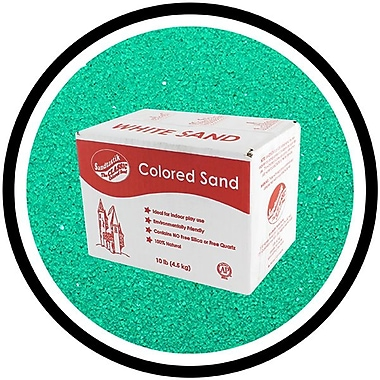 Sandtastik® Classic Coloured Sand, 10 lb (4.5 kg) Box, Green