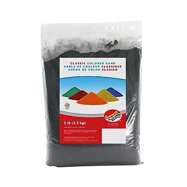 SandtastikMD – Sable coloré classique, sac de 5 lb (2,3 kg), noir, 6/paquet