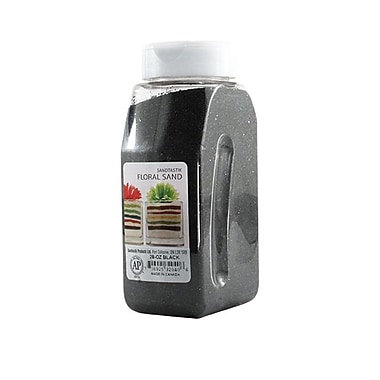 Sandtastik® Floral Coloured Sand, 28 oz (795 g) Bottle, Black