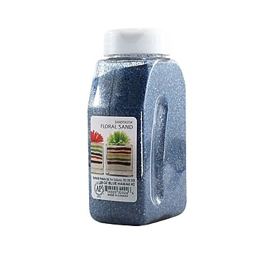 Sandtastik® Floral Coloured Sand, 28 oz (795 g) Bottle, Blue Hawaii #2, 8/Pack