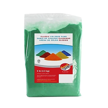 Sandtastik® Classic Coloured Sand, 5 lb (2.3 kg) Bag, Light Green
