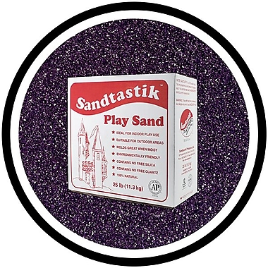 Sandtastik® Classic Coloured Sand, 25 lb (11.3 kg) Box, Eggplant