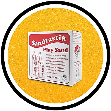 Sandtastik® Classic Coloured Sand, 25 lb (11.3 kg) Box, Fluorescent Orange