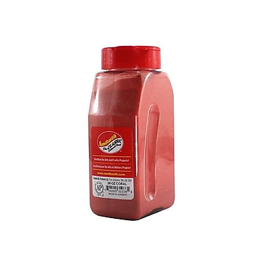 Sandtastik Classic Coloured Sand, 28 oz (795 g) Bottle, Coral, 8/Pack