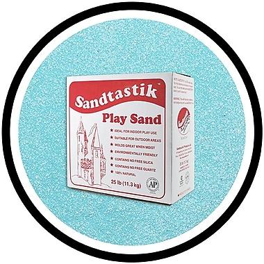Sandtastik® Classic Coloured Sand, 25 lb (11.3 kg) Box, Light Blue