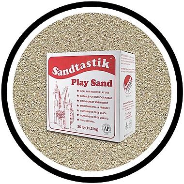 Sandtastik® Classic Coloured Sand, 25 lb (11.3 kg) Box, Silver